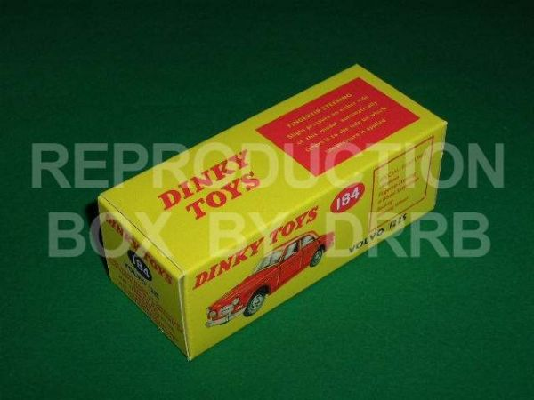 Dinky #184 Volvo 122S - Reproduction Box